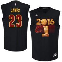 Men's Cleveland Cavaliers #23 LeBron James Black 2016 NBA Finals Champions Stitched NBA Jersey