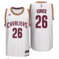Men's Cleveland Cavaliers #26 Kyle Korver adidas White Player Swingman Home Jersey