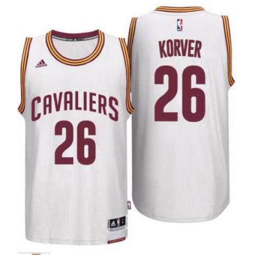 82dbbd05f04 Men's Cleveland Cavaliers #26 Kyle Korver adidas White Player Swingman Home  Jersey