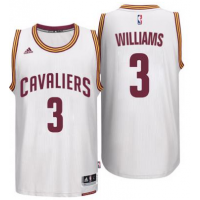 Men's Cleveland Cavaliers #3 Derrick Williams adidas White Player Swingman Home Jersey