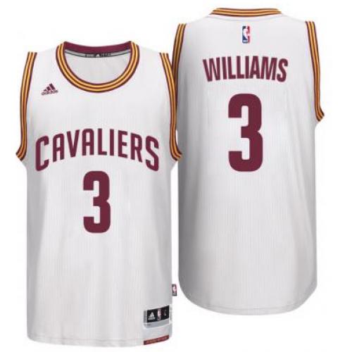 the best attitude 68f5e 99f88 Men's Cleveland Cavaliers #3 Derrick Williams adidas White ...