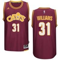 Men's Cleveland Cavaliers #31 Deron Williams adidas Wine Hardwood Classics Swingman Jersey