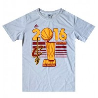 Men's Cleveland Cavaliers Adidas White 2016 NBA Finals Champions Locker Room T-Shirt