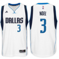 Men's Dallas Mavericks #3 Nerlens Noel adidas White Swingman Home Jersey
