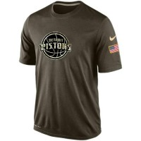 Men's Detroit Pistons Salute To Service Nike Dri-FIT T-Shirt