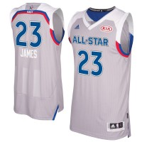 2017 All-Star Eastern Conference Cleveland Cavaliers #23 LeBron James Gray Stitched NBA Jersey