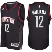 Men's Houston Rockets #12 Lou Williams adidas Black Swingman Space City Jersey