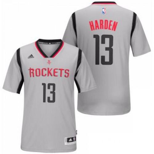 wholesale dealer b3c30 376e1 Men's Houston Rockets #13 James Harden adidas Silver New ...