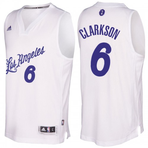 a2648304075 Men s Los Angeles Lakers  6 Jordan Clarkson 2016-2017 Christmas Day White  NBA Swingman Jersey