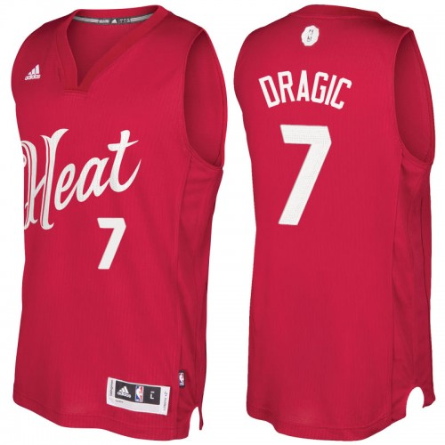 Men s Miami Heat Goran Dragic Red 2016-2017 Christmas Day NBA Swingman  Jersey b1be064a5