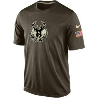 Men's Milwaukee Bucks Salute To Service Nike Dri-FIT T-Shirt