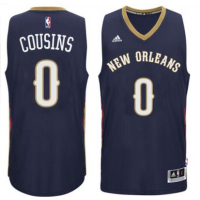 Men's New Orleans Pelicans #0 DeMarcus Cousins adidas Navy Player Swingman Jersey