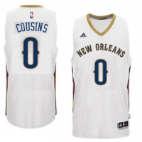 Men's New Orleans Pelicans #0 DeMarcus Cousins adidas White Player Swingman Jersey