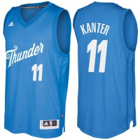 Men's Oklahoma City Thunder #11 Enes Kanter Blue 2016-2017 Christmas Day NBA Swingman Jersey