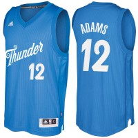Men's Oklahoma City Thunder #12 Steven Adams Blue 2016-2017 Christmas Day NBA Swingman Jersey