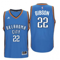 Men's Oklahoma City Thunder #22 Taj Gibson adidas Light Blue Player Swingman Jersey