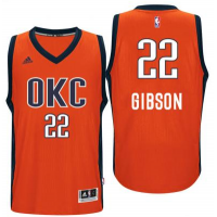 Men's Oklahoma City Thunder #22 Taj Gibson adidas Orange Player Swingman Jersey