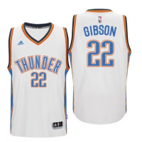 Men's Oklahoma City Thunder #22 Taj Gibson adidas White Player Swingman Jersey