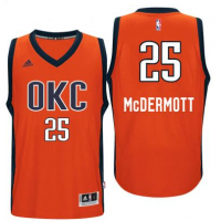Men's Oklahoma City Thunder #25 Doug McDermott adidas Orange Player Swingman Jersey