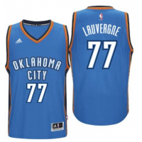 Men's Oklahoma City Thunder #77 Joffrey Lauvergne adidas Light Blue New Swingman Road Jersey