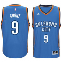 Men's Oklahoma City Thunder #9 Jerami Grant adidas Light Blue New Swingman Road Jersey