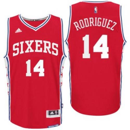 c06a4499c98 Men s Philadelphia 76ers  14 Sergio Rodriguez adidas Red Swingman Alternate  Jersey