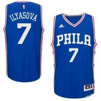 Men's Philadelphia 76ers #7 Ersan Ilyasova adidas Royal Swingman Road Jersey