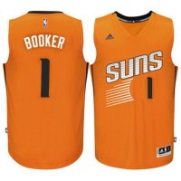 Men's Phoenix Suns #1 Devin Booker adidas Orange Swingman climacool Jersey