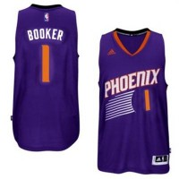 Men's Phoenix Suns #1 Devin Booker adidas Purple Swingman Road Jersey