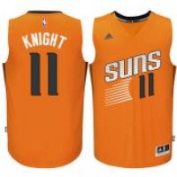 Men's Phoenix Suns #11 Brandon Knight adidas Orange Swingman Alternate Jersey
