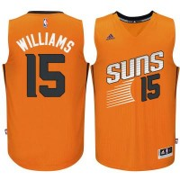 Men's Phoenix Suns #15 Alan Williams adidas Orange Swingman Alternate Jersey