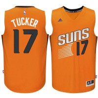 Men's Phoenix Suns #17 P.J. Tucker adidas Orange Swingman Alternate Jersey