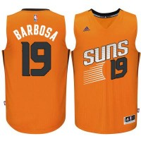 Men's Phoenix Suns #19 Leandro Barbosa adidas Orange Swingman Alternate Jersey
