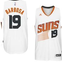 Men's Phoenix Suns #19 Leandro Barbosa adidas White Swingman Home Jersey