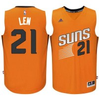 Men's Phoenix Suns #21 Alex Len adidas Orange Swingman Alternate Jersey