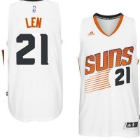 Men's Phoenix Suns #21 Alex Len adidas White Swingman Home Jersey