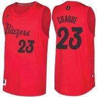 Men's Portland Trail Blazers #23 Allen Crabbe Red 2016-2017 Christmas Day NBA Swingman Jersey