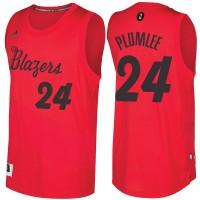 Men's Portland Trail Blazers #24 Mason Plumlee Red 2016-2017 Christmas Day NBA Swingman Jersey