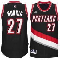 Men's Portland Trail Blazers #27 Blazers Jusuf Nurkic adidas Black Swingman Road Jersey