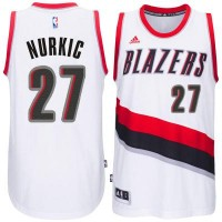Men's Portland Trail Blazers #27 Blazers Jusuf Nurkic adidas White Swingman Home Jersey