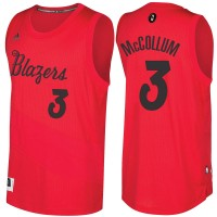 Men's Portland Trail Blazers #3 C.J. McCollum Red 2016-2017 Christmas Day NBA Swingman Jersey