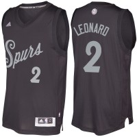 Men's San Antonio Spurs #2 Kawhi Leonard Black 2016-2017 Christmas Day NBA Swingman Jersey