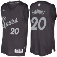 Men's San Antonio Spurs #20 Manu Ginobili Black 2016-2017 Christmas Day NBA Swingman Jersey