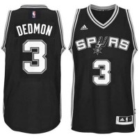 Men's San Antonio Spurs #3 Dewayne Dedmon adidas Black Player Swingma Jersey