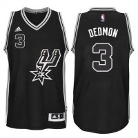 Men's San Antonio Spurs #3 Dewayne Dedmon adidas Black Signature Spur Swingma Jersey