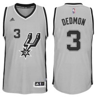 Men's San Antonio Spurs #3 Dewayne Dedmon adidas Gray Player Swingma Jersey