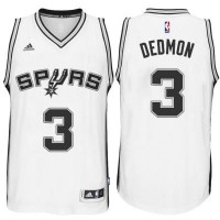 Men's San Antonio Spurs #3 Dewayne Dedmon adidas White Player Swingma Jersey