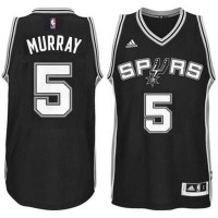 Men's San Antonio Spurs #5 Dejounte Murray adidas Black Player Swingman Jersey