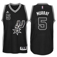 Men's San Antonio Spurs #5 Dejounte Murray adidas Black Signature Spur Swingman Jersey