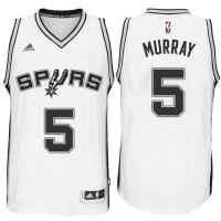 Men's San Antonio Spurs #5 Dejounte Murray adidas White Player Swingman Jersey